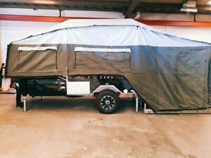 New Hard Floor Dual Fold Camper trailer Off Road Front Fold Rear Fold Caravan