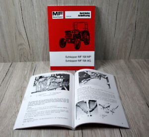 Massey Ferguson Betriebsanleitung für den Traktor MF 158 MP und MF 158-8G  .