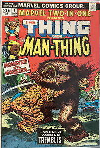 Lot Of 1 Hi $ Comic Marvel Two In One #1 Man-Thing See Pics Combined Shipping