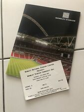 More details for ultra rare 2007 first 1st game at new wembley stadium signed by goalscorer's
