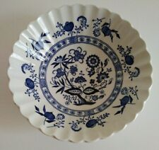 "J & G MEAKIN England CLASSIC Blue Nordic Blue Onion 6 1/2"" BOWL"