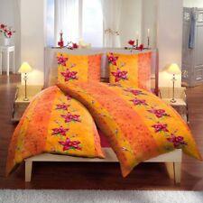 6 teilige Bettwäsche 160 x 210 cm Blume Terra Microfaser Garnitur >> Big Pack <<
