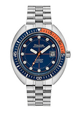 Bulova 96B321 Oceanographer Devils Diver Watch Blue Orange 2019 Box & Papers