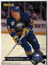 1995-96 Donruss Buffalo Sabres Hockey Card #18 Yuri Khmylev