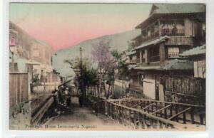 PROSTITUTE HOUSE, IZUMOMACHI, NAGASAKI: Japan postcard (C55626)