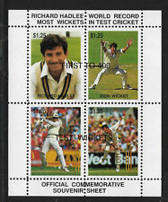 NEW ZEALAND 1990 RICHARD HADLEE CRICKET RECORD Cinderella Souvenir Sheet MNH