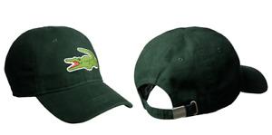Lacoste Men's Gabardine Cotton Big Croc Logo Adjustable Green Hat Cap RK8217-51