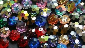 8 X Swarovski  #3700 MARGARITA FLOWER Beads 10mm, Many Special Effect Colors!