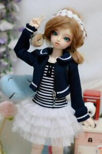 Dark Blue Coat/Skirt/Camisole Outfit For 1/4 17in. tall Girl BJD AOD AS MSD DOLL