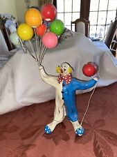 Vintage paper mache clown Holding Balloons Mexico