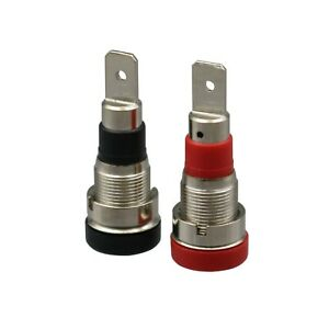 2mm MULTICOMP 10 A Red Banana Test Connector Gold Plated Contacts 60 V in Line Mount 25.205.1 Plug