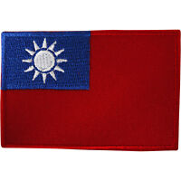 Taiwan Flag Patch Iron On Sew On Embroidered Republic of China Embroidery Badge