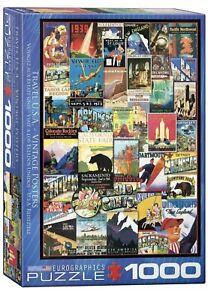 EuroGraphics Travel USA Vintage Ads Jigsaw Puzzle 1000 Piece Jigsaw Puzzle