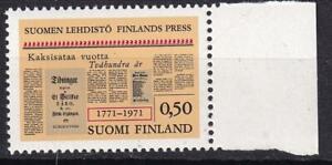 Finland 1971 Finnish Press Centennial 50p, MNH sc#506