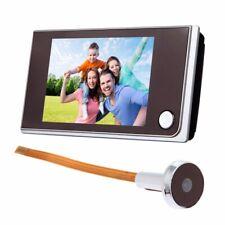 "3.5"" Digital Peephole Door Viewer Doorbell 120° Night Vision Video Audio Camera"