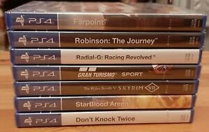 SONY PS4 VR GAMES x7 *Factory Sealed* bundle