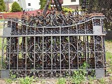 WROUGHT IRON FENCE 101.5''x 65'' METAL ART WORK HANDCRAFTED 6 Pcs NEW
