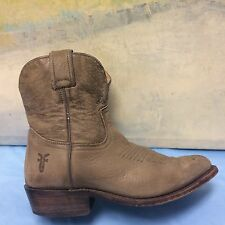 Frye 77815 Billy Short Khaki Leather Cowgirl Boots Women's Size 7 B