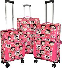 Betty Boop 3-piece Expandable Spinner Luggage Set