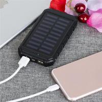 Waterproof Dual USB 50000mAh Solar DIY Power Bank Battery Charger No BatteBP