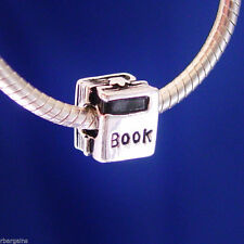 Book Reading Love Read Books Teacher threaded Silver European Charm Bead