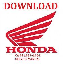HONDA CA 95 1959-1966 SERVICE MANUAL DOWNLOAD