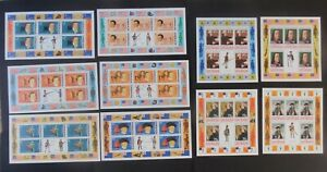 Grenada 1978 Bicent American sheetlets SG694/703 ship MNH UM unmounted mint