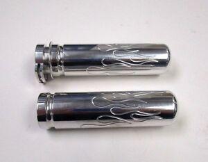 Pocket Bike Mini Bike Parts Twist Throttle Billet Grips-Silver