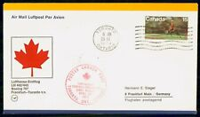 Mayfairstamps Canada First Flight Cover 1973 to Germany Boeing 707 wwf58439