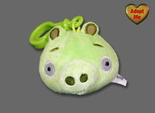 Commonwealth Rovio Angry Bird Green Pig Backpack Clip Stuffed Plush Animal 2010