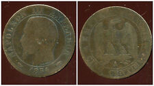 5 centimes NAPOLEON III 1854 A  (2)