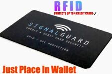 Signal Guard®️RFID Wireless Illegal Credit/Debit Card Reader Blocker Easy To Use