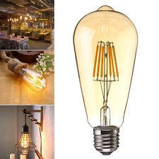 Dimmbar E27 6W COB Edison LED ST64 Vintage Filament Glühbirne Fadenlampe 220V