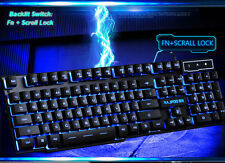 3 Color Backlit Cyborg Soldier Ergonomic Usb Gaming Keyboard Blue/Purple/Red LED