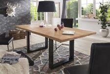 Esstisch Tisch KENAN Wildeiche massiv, 140x90cm Kufengestell