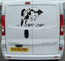 SIBERIAN HUSKY PUPPY DECAL SLED DOGS HUSKIES DOG SIBE CAR VAN DECAL STICKER