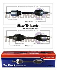 2 Front CV Axle Shafts ford Lincoln Mercury Fusion Zephyr 3.0L SurTrack Set