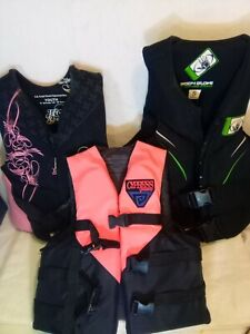 3 Youth Life Vests,Body Glove Over 90lb. H2o Sports Girls 50-90 Cypress Sm.