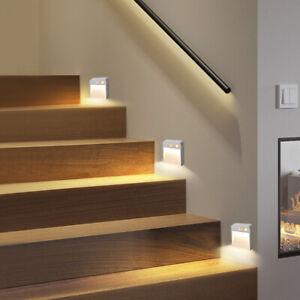 LED Motion Sensor Lights PIR Auto Wireless Night Light Battery Power Stair Lamp