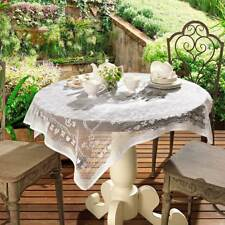 White Lace Square Tablecloth /  Topper for small table. Size 1 meter ≅ 40 inches