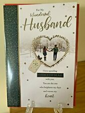Cute Luxury Christmas Cards Male - Special Husband - Foil Xmas Premium Quality