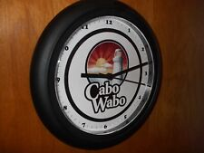 Cabo Wabo Tequila Bar Man Cave Advertising Black Wall Clock Sign