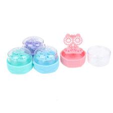 1XPortatile Detergente per lenti a contatto Casi Box Rotazione manuale Rond BRFP