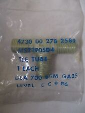 """MS21905D4 Aluminum Tee Tube Fitting Thread Size 7/16"""" All Sides"""