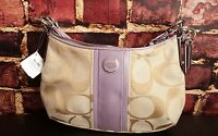 NEW! $225 Coach Signature Stripe Demi Shoulder Hand Bag Crossbody 28206E
