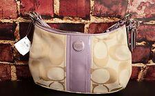 NEW! Coach Signature Stripe Demi Shoulder Hand Bag Crossbody 28206E