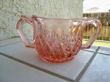 """Pink Sugar Bowl 3½"""" Wide X 2 3/4"""" Tall"""