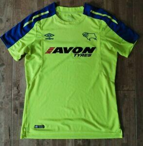 Derby County 2017-18 Away Shirt Umbro Rams - Yellow Medium
