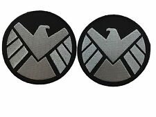 "3.5"" Set of 2 Marvel Comics Avengers Agents of SHIELD Embroidered Iron On Patch"