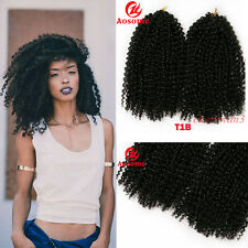 12'' 2pcs/set Kanekalon Twist Kinky Hair Extensions Mali Bob Afro Bohemian Black
